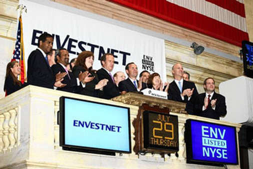 Envestnet rings the bell to mark its July 29, 2010 IPO.