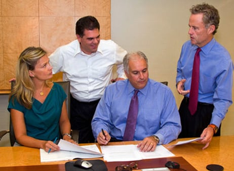 Palladiem Partners' executive team, from left to right: CMO Stephanie Mackara; COO Joseph Scavetti; President and co-CIO David Feldman; and CEO Don Robinson.