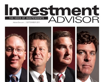 Investment Advisor magazine's September 2011 cover.