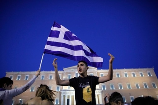 Greeks in Athens protesting austerity measures earlier this year. (Photo: AP)