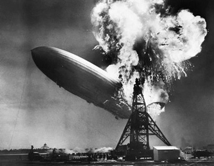 The global economy could be mimicking the fate of the Hindenburg in a few weeks.