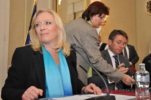 Prime Minister Iveta Radicova of Slovakia (left).
