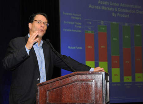 Chip Roame speaking at Tiburon's 2011 CEO Summit in San Francisco.