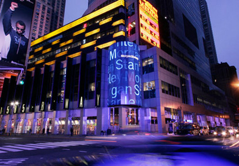 Morgan Stanley building in Times Square. (Photo: AP)
