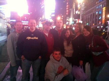 Alfred State College's Financial Planning Program students posed for a self-portrait on Times Square during a field trip from the NAPFA conference in Brooklyn.