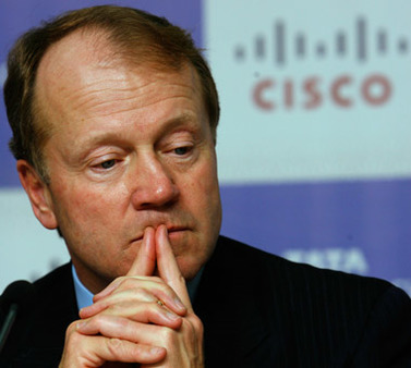 Cisco's John Chambers contemplating his dismal performance--or what to buy with his outsize pay. (Photo: AP)