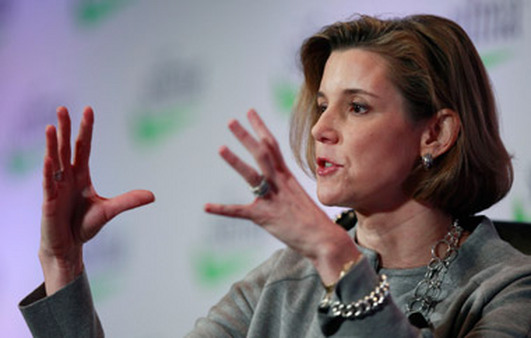 Sallie Krawcheck speaking at SIFMA's annual conference on Monday. (Photo: AP)