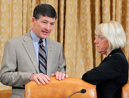 Rep. Jeb Hensarling, R-Texas, and Sen. Patty Murray, D-Wash., members of the Deficit Committee. (Photo: AP)