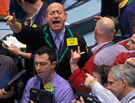 Traders on the floor of the NYMEX, where palladium is traded. (Photo: AP)