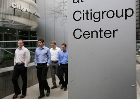 People passing the Citigroup Center in New York. (Photo: AP)