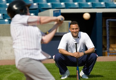 A foundation by Yankees' Derek Jeter, seen here at a cli