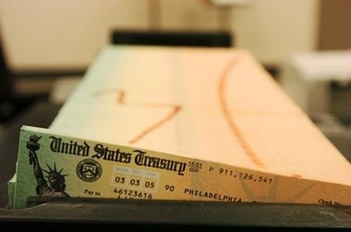 Social Security checks being processed. (Photo: AP)
