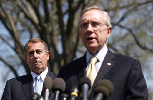 Rep. John Boehner (left) and Sen. Harry Reid are forming a conference committee to strike a long-term deal on a payroll tax cut. (Photo: AP)