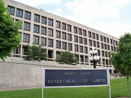 Labor Department's headquarters in Washington.