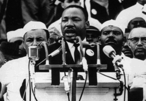 "Martin Luther King delivering his ""I Have a Dream"" speech in Washington in 1963. (Photo: AP)"