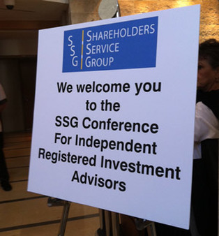 Shareholders Service Group Conference 2012 in San Diego.