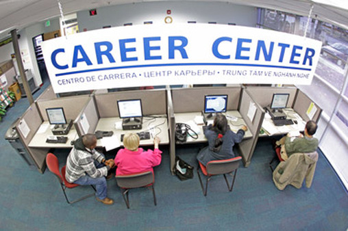 A career center offers help for the unemployed. (Photo: AP)