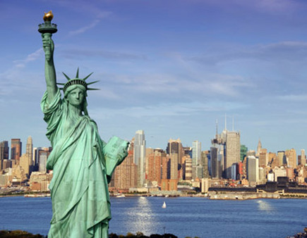 Statue of Liberty keeping watch over New York City—and its place in the survey.