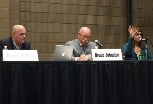 From left: James Holland, Bruce Johnston and Sheri Fitts at ASPPA's Summit.