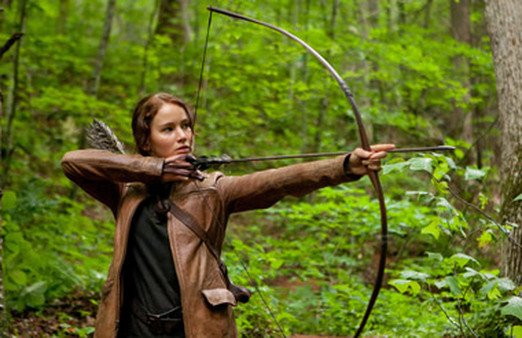 Jennifer Lawrence as Katniss Everdeen, the main character in