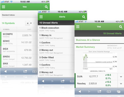 TD Ameritrade Institutional's Veo mobile app lets RIAs make trades on their iPads and view accounts on their phones.