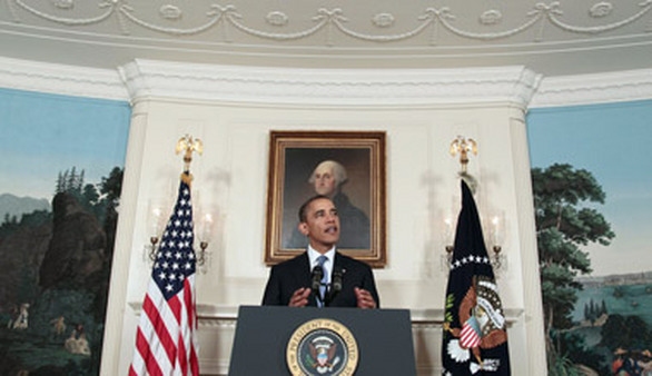 President Obama speaks about the debt ceiling at the White House in July. (Photo: AP)