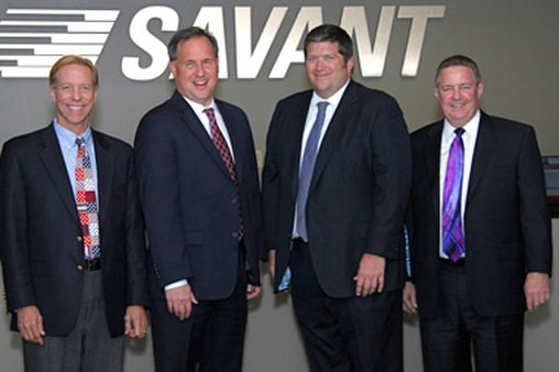 The principals of the newly formed Savant Capital LLC. From left to right, Glenn Kautt, Dick Bennett, Brent Brodeski, Tom Muldowney.