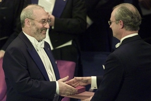 Joseph Stiglitz receiving his Nobel Prize for Economic Sciences in 2001. (Photo: AP)