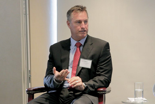 Jon Sundt of Altegris speaking at Gemini Fund Services' Managed Futures Forum in New York in February.