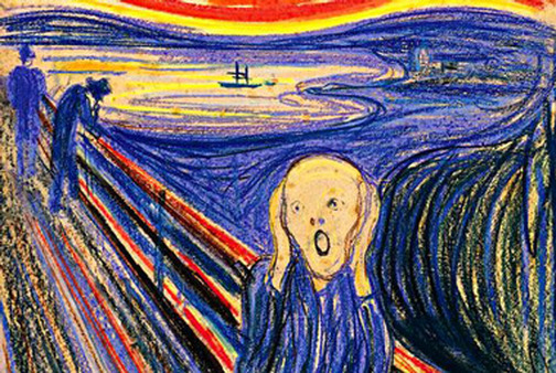 """The Scream,"" painted in 1893 by Edvard Munch."
