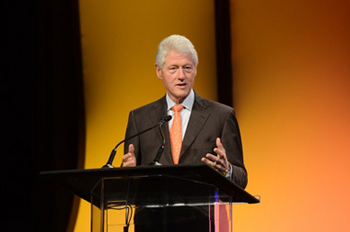 Former President Bill Clinton speaking at Pershing Insite. Photo courtesy of Persh
