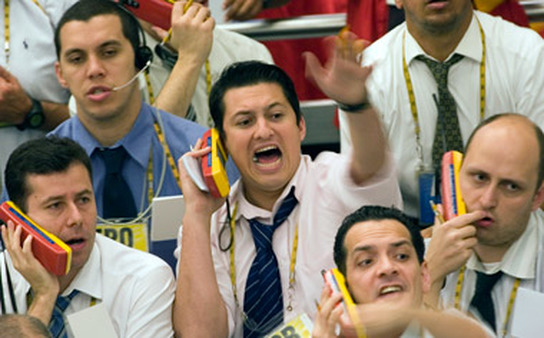 Traders in Brazil. International stock ETFs, led by emerging markets, accounted for most May ETF outflows. (Photo: AP)