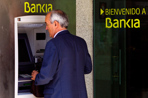 An ATM for Bankia, the recently nationalized Spanish bank. (Photo: AP)
