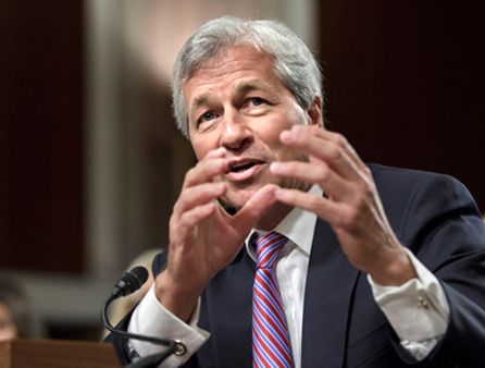 JPMorgan Chase CEO Jamie Dimon testifying on Capitol Hill on Wednesday. (Photo: AP)