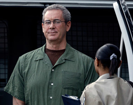 Allen Stanford being led to court. (AP Photo)