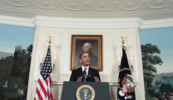 President Obama speaking about the debt ceiling. (Photo: AP)