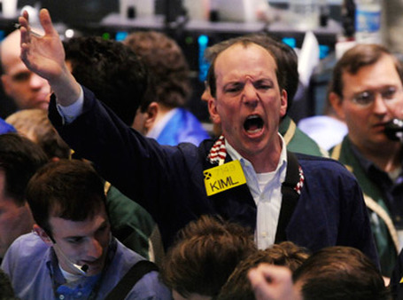 A trader on the floor of the NYMEX. (Photo: AP)