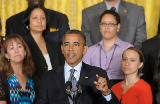Obama speaking at the White House on Monday. (Photo: AP)