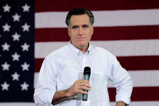 Republican presidential hopeful Mitt Romney.