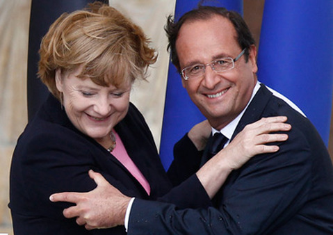 Chancellor Angela Merkel of Germany and Prime Minister Francois Hollande of France in July. (Photo: AP)