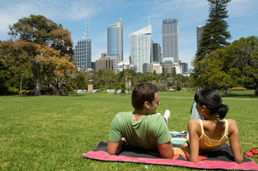 A park in Sydney, Australia.