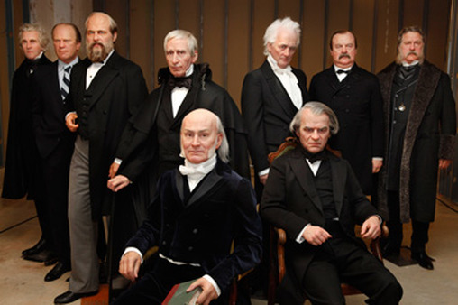 Eight of these presidents, rendered in wax by Madame Tussauds, preseved their wealth, one did not. (Photo: AP)
