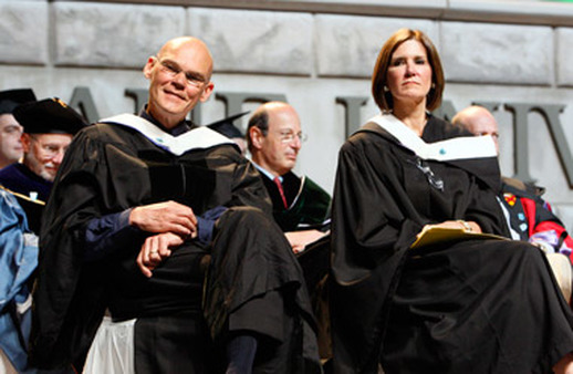 James Carville and Mary Matalin at a Tulane commencement ceremony. (Photo: AP)