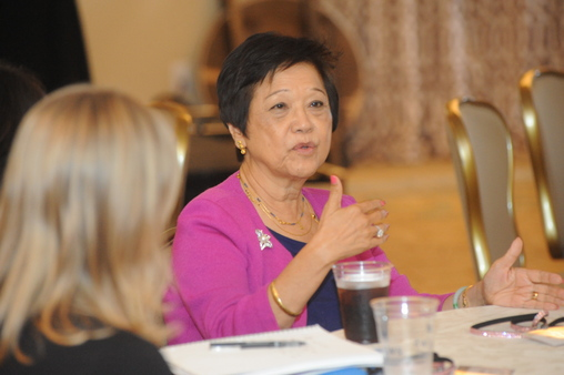 Advisor Margaret Starner participates in a roundtable during the Raymond James Women's Symposium on Thursday.