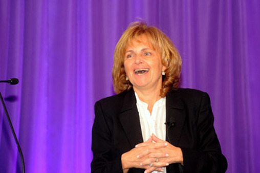 Bella Loykhter Allaire, head of technology for Raymond James, speaks at firm's Women's Symposium on Oct. 12.