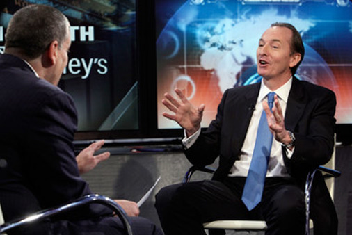 Morgan Stanley CEO James Gorman on Fox Business Network in April. (Photo: AP)