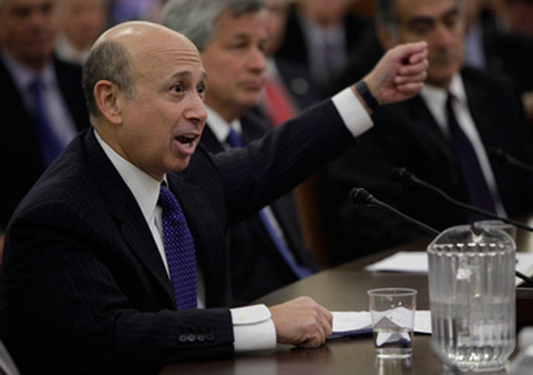 CEO Lloyd Blankfein of Goldman Sachs testifying before Congress. (Photo: AP)