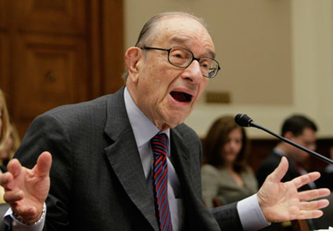 Alan Greenspan speaking in Congress. (Photo: AP)