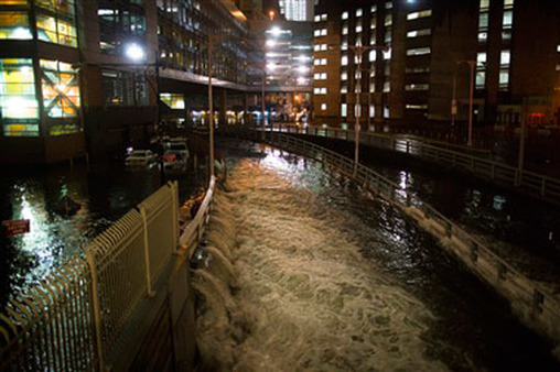 Hurricane Sandy flooded Lower Manhattan and closed the NYSE for two days—a feat not even the crash of 1929 matched. (Photo: AP)