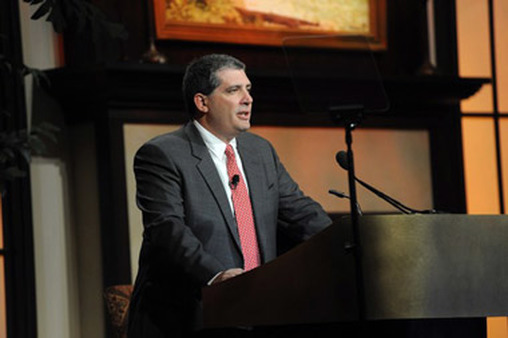 Commonwealth CEO Wayne Bloom speaking at a conference in 2011.